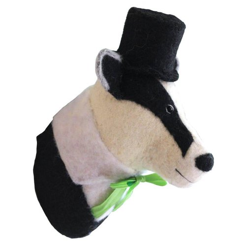 Sew Heart Felt Felted Animals Brigadier Billie the Badger Head