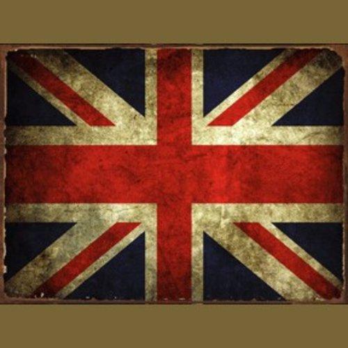 Original Metal Sign Co. Great Britain Flag Metal Sign