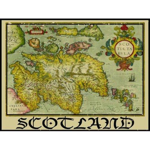Original Metal Sign Co. Original Metal Sign Co Map of Scotland Metal Sign