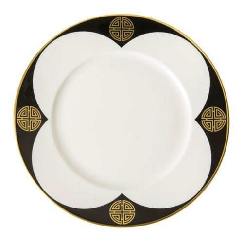 Royal Crown Derby Satori Black Salad Plate