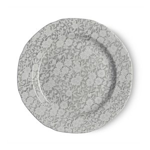 Burleigh Pottery Calico Grey 8.5 in. Plate