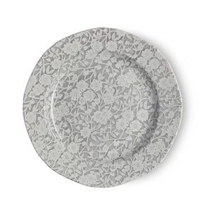 Burleigh Pottery Calico Grey 7.5 in. Plate