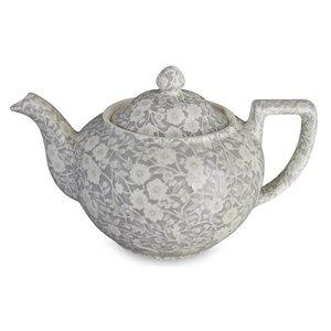 Burleigh Pottery Calico Grey 7 Cup Teapot