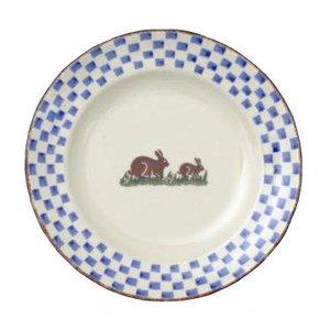 Brixton Pottery Rabbits Dessert Plate