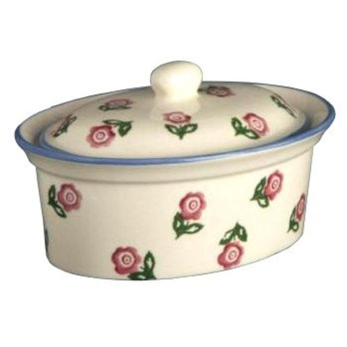 Brixton Pottery Rose Butter Dish