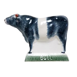 Rye Pottery Rye Bull - Black With White Stripe