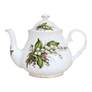Berta Hedstrom Lily of the Valley 6 Cup Teapot
