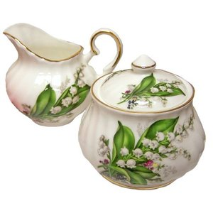 Berta Hedstrom Lily of the Valley Cream and Sugar Set