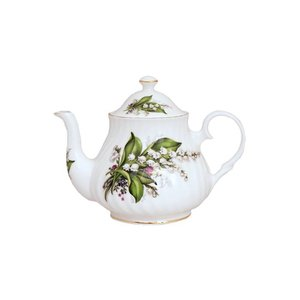 Beatrix Potter Berta Hedstrom Lily of the Valley 2 Cup Teapot