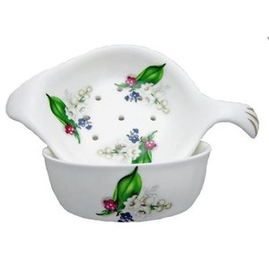 Berta Hedstrom Berta Hedstrom Lily of the Valley Strainer with Bowl