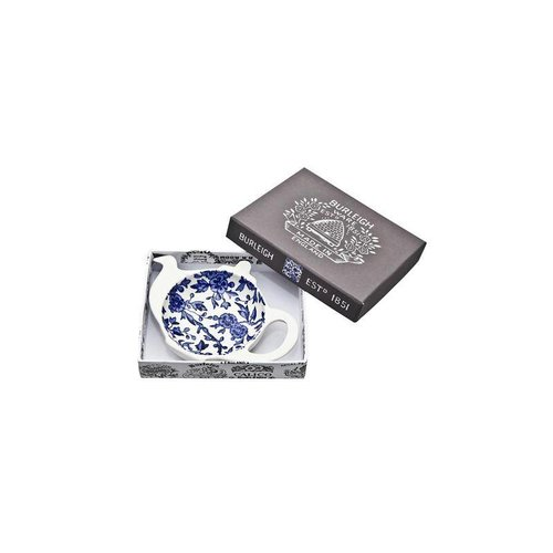 Burleigh Pottery Arden Blue Mini Teapot Tea Bag Holder - Boxed