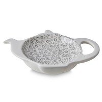 Dove Grey Felicity Mini Teapot Tea Bag Holder - Boxed
