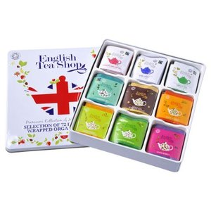 English Tea Shop Union Jack Gift Organic Tea Tin - 72 Count
