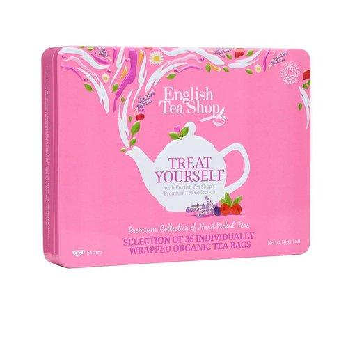 English Tea Shop Treat Yourself Organic Gift Tea Tin - 36 Count