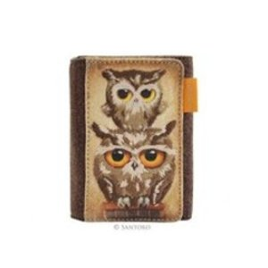 Santoro London Santoro London Book Owls Canvas and Wool Wallet