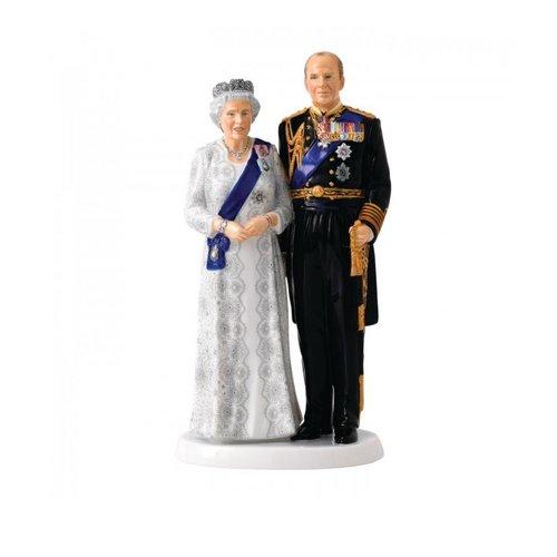 Royal Doulton Royal Doulton Queen Elizabeth's Platinum Wedding Anniversary Figurine