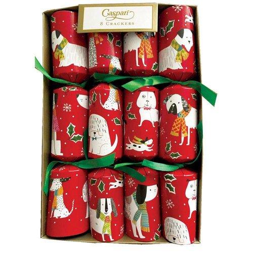 Caspari Caspari Christmas Crackers - Canines - 8 Count