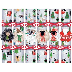 Caspari Christmas Crackers - Warm and Wooly - 6 Count