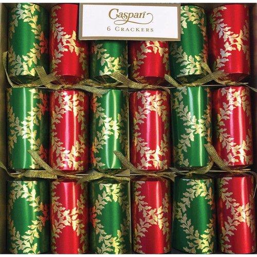 Caspari Caspari Christmas Crackers - Acanthus Trellis - 6 Count