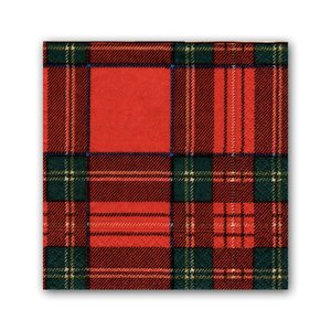 Caspari Caspari Royal Plaid Cocktail Napkins