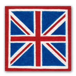 Caspari Caspari Union Jack Cocktail Napkins