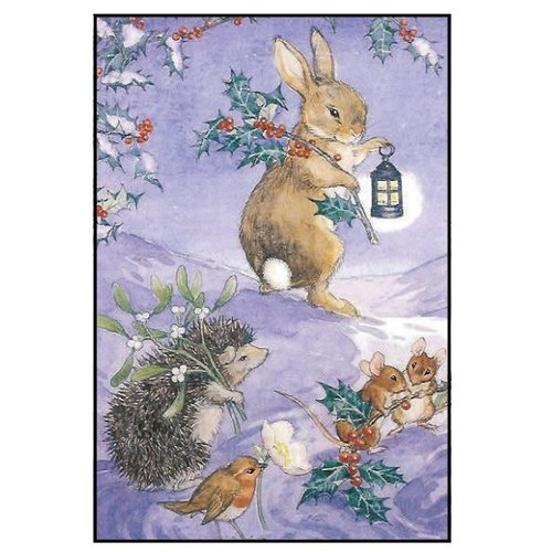 Paper Planet Rabbit & Holly Boxed Christmas Cards