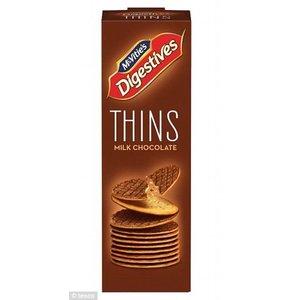 McVitie's McVities Digestive Milk Chocolate Thins