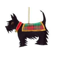 St. Nicolas Black Scottie Dog Ornament