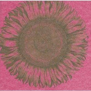 Caspari Caspari Etched Sunflower Fuchsia Paper Cocktail Napkins