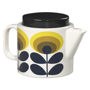 Orla Kiely Orla Kiely 70s Oval Flower Yellow Kettle
