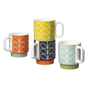 Orla Kiely Orla Kiely Linear Stacking Mug Set of 4