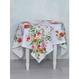 April Cornell Zinnia Bouquet Tablecloth (54''x 54'')
