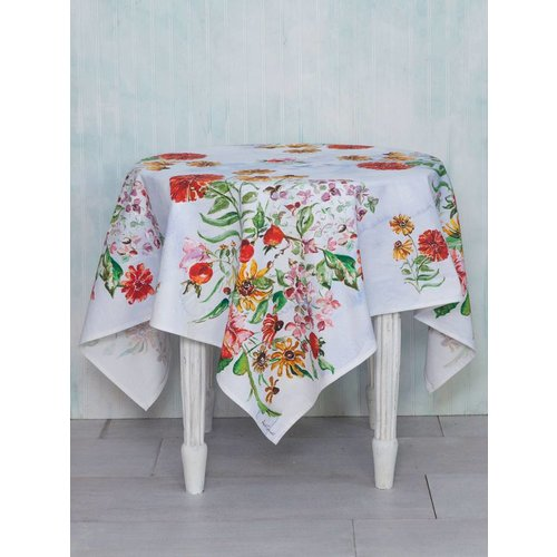 April Cornell April Cornell Zinnia Bouquet Tablecloth (54''x 54'')