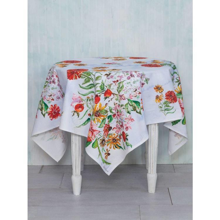 April Cornell April Cornell Zinnia Bouquet Tablecloth (60''x 90'')