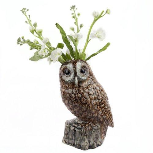 Quail Ceramics Quail Tawny Owl Flower Vase