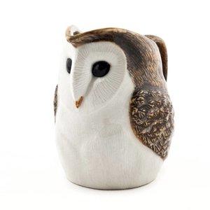 "Quail Ceramics Quail Barn Owl 3.5"" Jug"