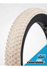 VEE RUBBER Pneu Vee Tire Snow Avalanche 26 x 4.8 - 240 crampons carbure Tubeless - Blanc