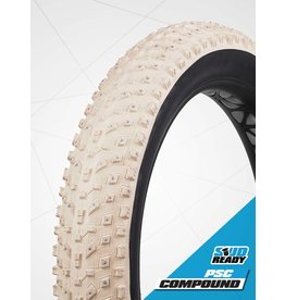 VEE RUBBER Vee Tire Snow Avalanche 26 x 4.8 - 240 crampons carbure Tubeless - Blanc