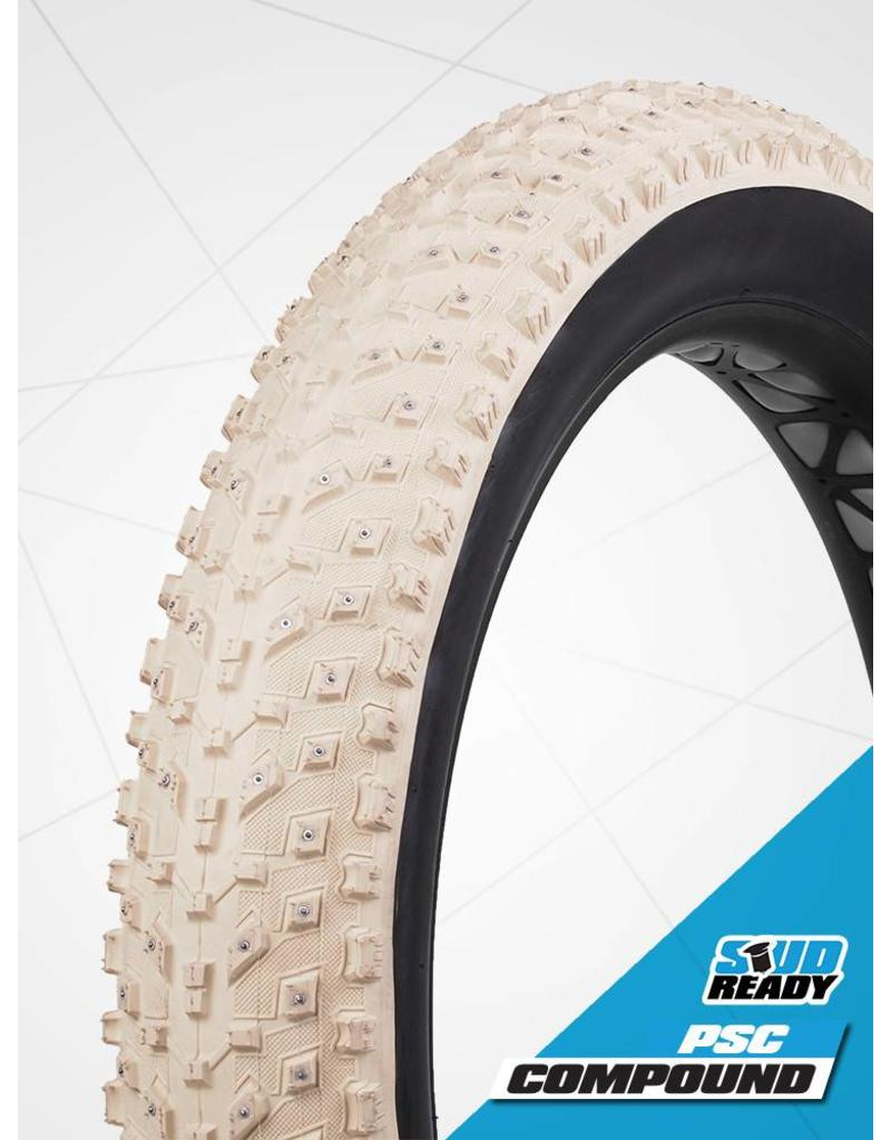VEE RUBBER Pneu Vee Tire Snow Avalanche 26 x 4.8 - 240 crampons carbure Tubeless - Blanc
