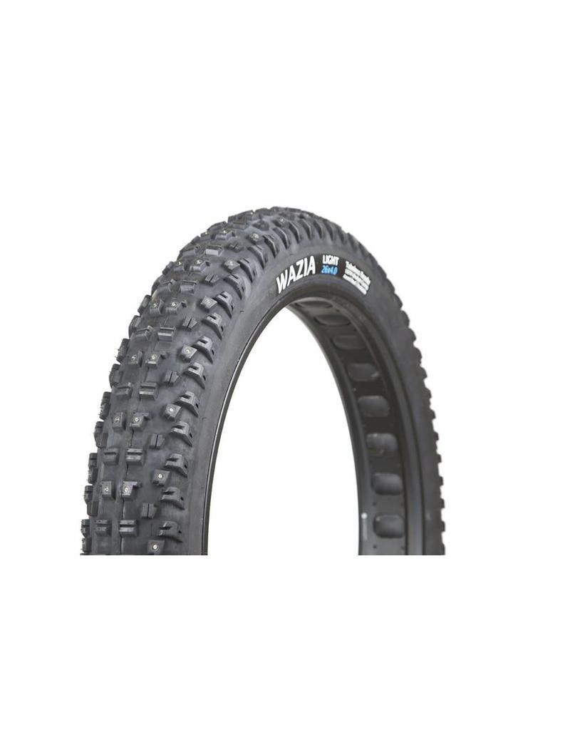 Terrene Terrene Wazia Light 26x4.6 TLR ( tubeless ready ) pour velo Fat bike - 155 crampons métaliques