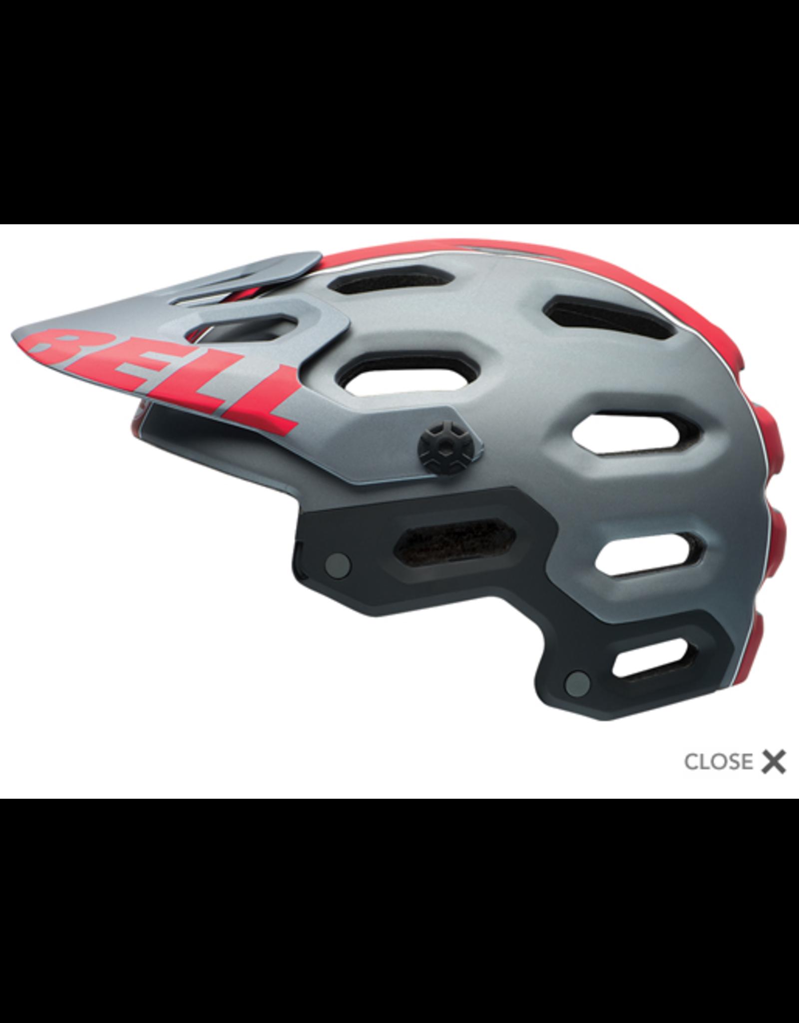 Casque Bell Super 2 - Small - Titane mat / Rouge