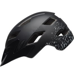 Bell Sidetrack helmet - Matt black and silver - youth size (50-57cm)