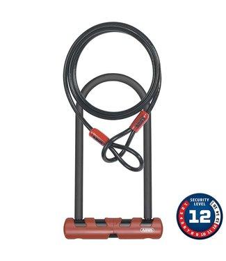 Cadenas en U Abus Ultimate 420 + cable ( 105mm x 230mm avec cable 10mm x 120cm et fixation USH