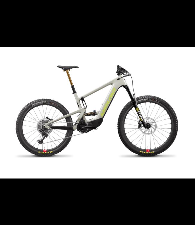 Santa Cruz 2021 Santa Cruz Heckler - Gray and Yellow (Fog and Yellowjacket) - Carbon CC - XO1 RSV - Mixed Wheels - Large