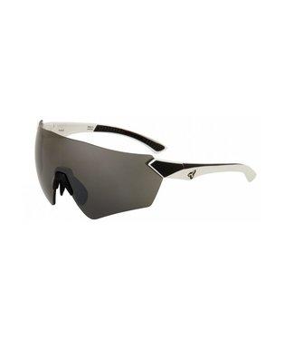 Lunettes Ryders Main AntiBuée  - Blanc / noir mat ( lentilles gris / reflet argent )