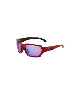 Ryders Face Anti Fog Glasses - Red Xtal-Black-Blue - Rose Lens Blue Mirror