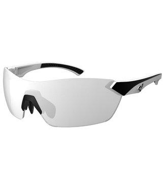 Lunettes Ryders Nimby - Blanc et noir ( lentilles gris / reflet argent )
