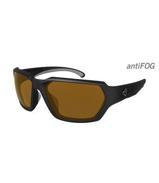 Lunette Ryders Face Poly Matte Black - Grey / Brown Lens Anti-Fog