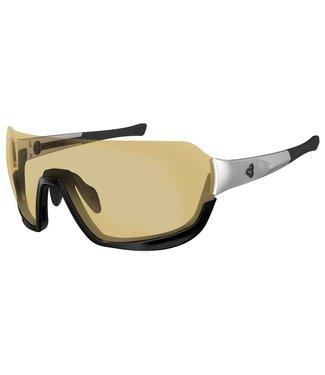 Ryders Fyre glasses - White & black (brown / gold antifog lenses)