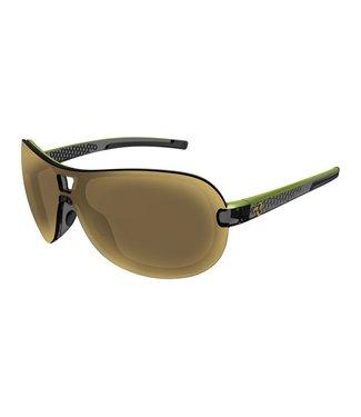 Ryders Fyre glasses - Black & dark green (brown / gold antifog lenses)